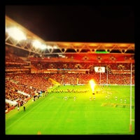 Photo taken at Suncorp Stadium by Sos M. on 8/17/2012
