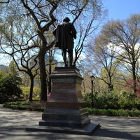 Photo taken at William Shakespeare Statue by Eric J. on 4/2/2012