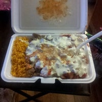 Photo taken at Mushin's Halal Food [Gyro Cart] by Brian M. on 1/16/2012