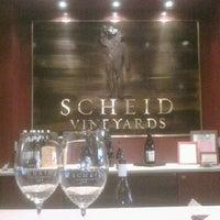 Photo taken at Scheid Vineyards Tasting Room by Kelly G. on 9/21/2011