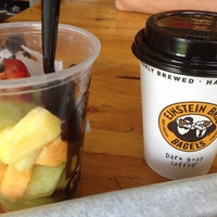 Photo taken at Einstein Bros Bagels by Gaby D. on 8/10/2012