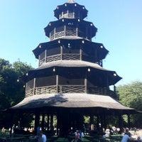 Photo taken at Biergarten am Chinesischen Turm by Francisco F. on 7/23/2012