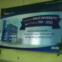Photo taken at BINUS University by Meiliana K. on 7/6/2012