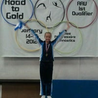 Photo taken at Naples Progressive Gymnastics by Erin M. on 1/14/2012