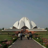 Photo taken at Lotus Temple (Bahá'í House of Worship) by bee on 3/9/2012