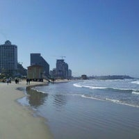 Photo taken at Frishman Beach by dan k. on 2/11/2012