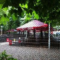 Photo taken at Zahrádky a restaurace Riegrovy sady – Park Café by Lucia J. on 7/20/2011
