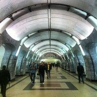 Photo taken at metro Chkalovskaya by Sergey R. on 8/24/2012