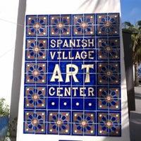 Photo taken at Spanish Village Art Center by Tim M. on 2/24/2012