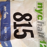 Photo taken at NYRR NYC Half 2012 - Finish Line by John on 3/18/2012