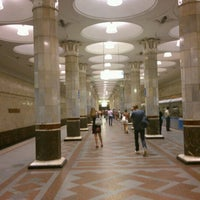 Photo taken at Metro Kiyevskaya, line 4 by Ksenia K. on 7/29/2012