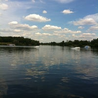 Photo taken at Траектория Wake Park by Anna P. on 7/14/2012