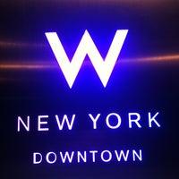 Photo taken at W New York - Downtown by Ravi M. on 8/22/2012