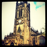 Photo taken at Manchester Cathedral by Vince E. on 5/5/2012