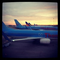 Photo taken at East Midlands Airport by Andrew B. on 8/18/2012