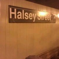 Photo taken at MTA Subway - Halsey St (J/Z) by Dante R. on 1/10/2012