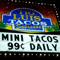 Photo taken at Tío Luis Tacos by Monk T. on 1/9/2012
