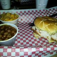 Photo taken at Moe's Original BBQ by John G. on 11/17/2011
