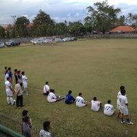 Photo taken at Lapangan Yoga Perkanti Jimbaran by Nancy A. on 7/12/2012