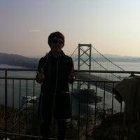 Photo taken at Onaruto Bridge by Saori S. on 3/11/2012