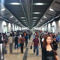 Photo taken at Serangoon MRT Interchange (NE12/CC13) by Jiayi X. on 9/27/2011