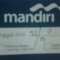 Photo taken at Bank Mandiri Pondok Indah Plaza by RUDI S. on 12/21/2011