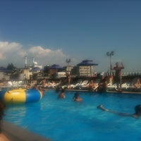Photo taken at Hamilton Hotel Swimming Pool by Jieun on 9/5/2011