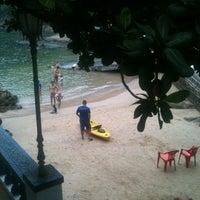 Photo taken at Clube de Pesca de Santos by Flavia S. on 2/21/2012