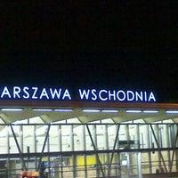 Photo taken at Warsaw East Railway Station by Konrad L. on 10/12/2011