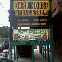 Photo taken at Dark Horse Steak And Brew by Conor C. on 7/9/2012