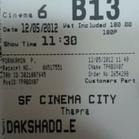 Photo taken at SF Cinema City by Thee P. on 5/12/2012