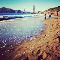 Photo taken at Baker Beach by Chloe P. on 5/27/2012