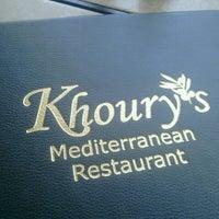 Photo taken at Khoury's Mediterranean Restaurant by Nina K. on 6/21/2012