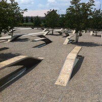 Photo taken at The Pentagon 9/11 Memorial by Carlos B. on 5/25/2012
