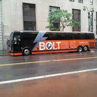 Photo taken at BoltBus Midtown Stop by Greg S. on 5/15/2012