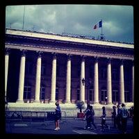 Photo taken at Palais Brongniart (Ancienne Bourse de Paris) by Hélène P. on 6/23/2012