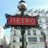 Photo taken at Métro Odéon [4,10] by Charles B. on 5/18/2012