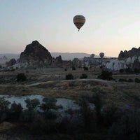 Photo taken at Ürgüp Hot Air Balloons by Marco Aurélio S. on 7/14/2012