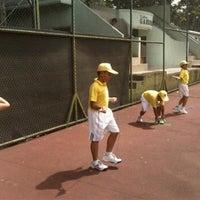 Photo taken at lapangan tenis kodiklat TNI AD by Ryan M. on 3/4/2012