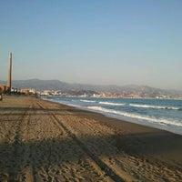 Photo taken at Playa de La Misericordia by Alejandro D. on 3/11/2012