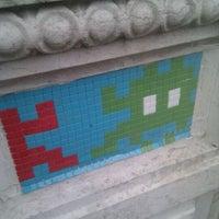 Photo prise au Space Invader - Pixel Art par Nick D. le11/24/2011