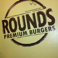 Photo taken at Rounds Premium Burgers by Justin K. on 8/19/2011