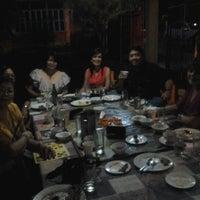Photo taken at Cafe' Saco by Antonio C. on 9/8/2012
