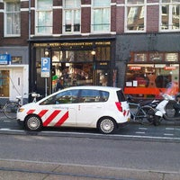 Photo taken at Tramhalte Van Woustraat by Annemarie M. on 10/21/2011