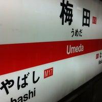 Photo taken at Midosuji Line Umeda Station (M16) by T on 6/19/2012