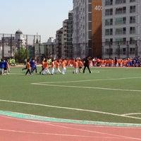 Photo taken at 언북초등학교 운동장 by 반짝반짝 빛나 on 5/4/2012