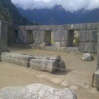 Photo taken at Templo de las Tres Ventanas by yulaicesar on 9/11/2011