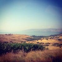 Photo taken at Sea of Galilee - Kinneret (כנרת) by Ashley H. on 9/3/2012