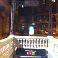 Photo taken at METRO Urquinaona by David R. on 2/20/2011
