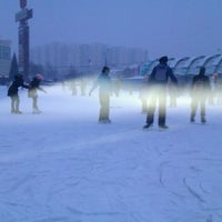 Photo taken at Каток у метро Ясенево by Марина Б. on 1/3/2012